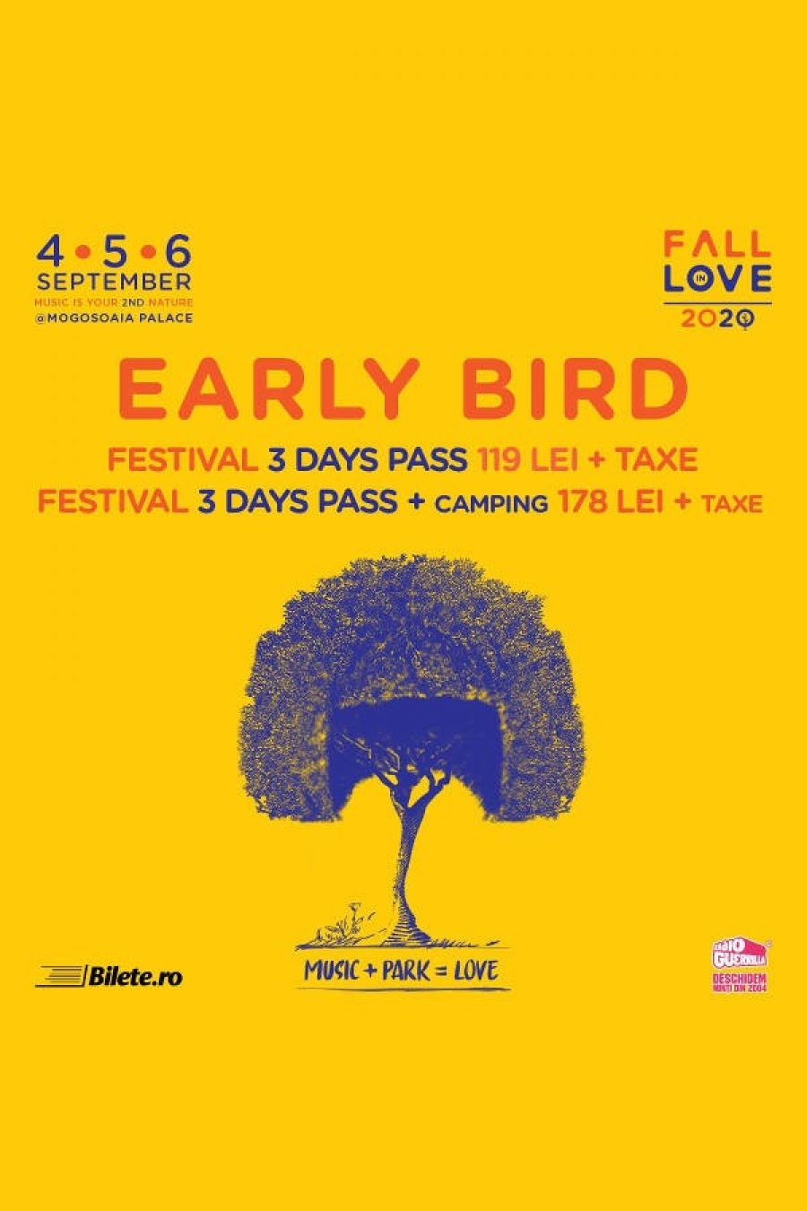 Fall in Love Festival 2020 la Palatul Mogoșoaia | 4 - 6 septembrie